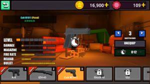 武器を強化する画面