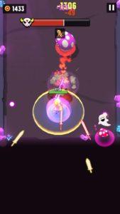 紫キノコが突進をしてくる画像