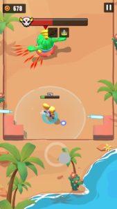 サボテンのボスと戦っている画面