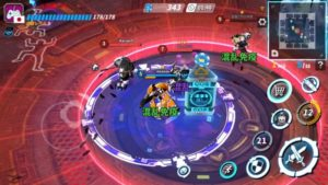 ファイナルステージで4人のプレイヤーと戦っているところ