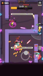 兵士を選択たことによる難易度の難しステージをプレイしている画面