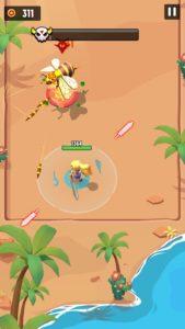 女王蜂の戦闘している画面