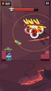 爆発トンボの攻撃範囲