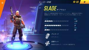 スレイドのヒーロー詳細