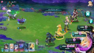 エバーテイルの戦闘画面